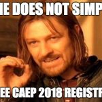CAEP 2018 and a Vlog
